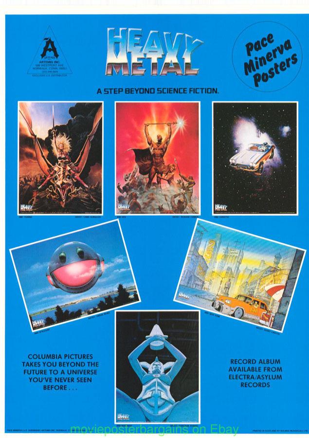 Heavy Metal Movie Poster 1981 Animation Rare Promo Poster Ebay