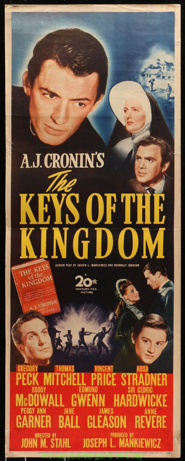 The keys of the Kingdom Gregory Peck Movie poster print