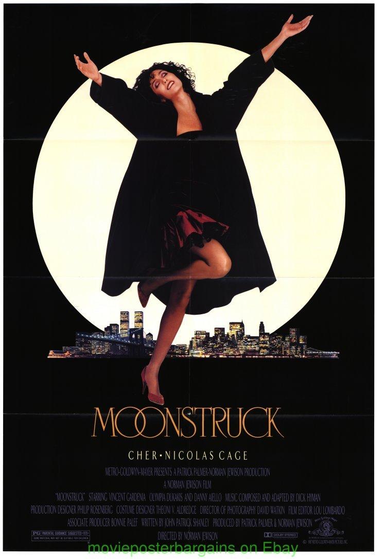 MOONSTRUCK MOVIE POSTER Original 27x41 Folded 1987 One ...