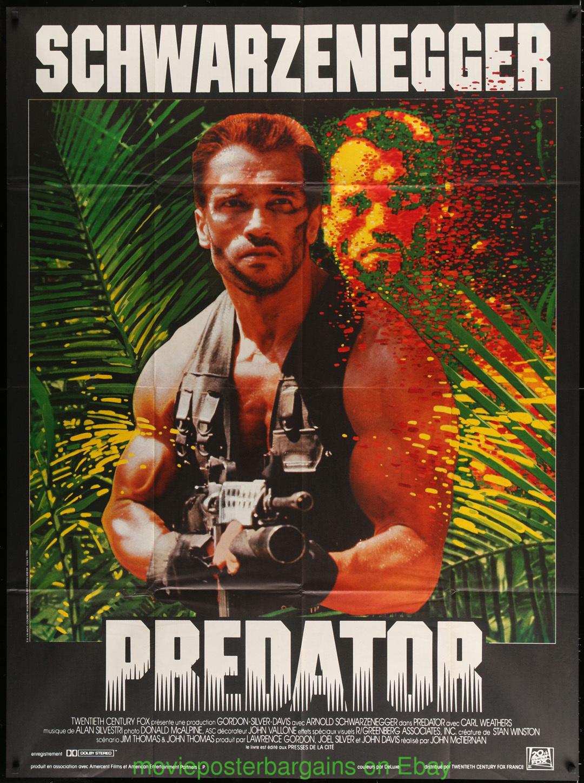 PREDATOR Movie Poster Arnold Schwarzenegger