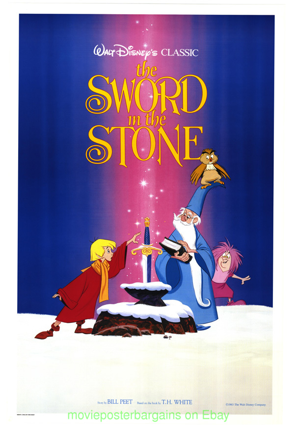 THE SWORD IN THE STONE MOVIE POSTER MINT RERELEASE 1980S ...
