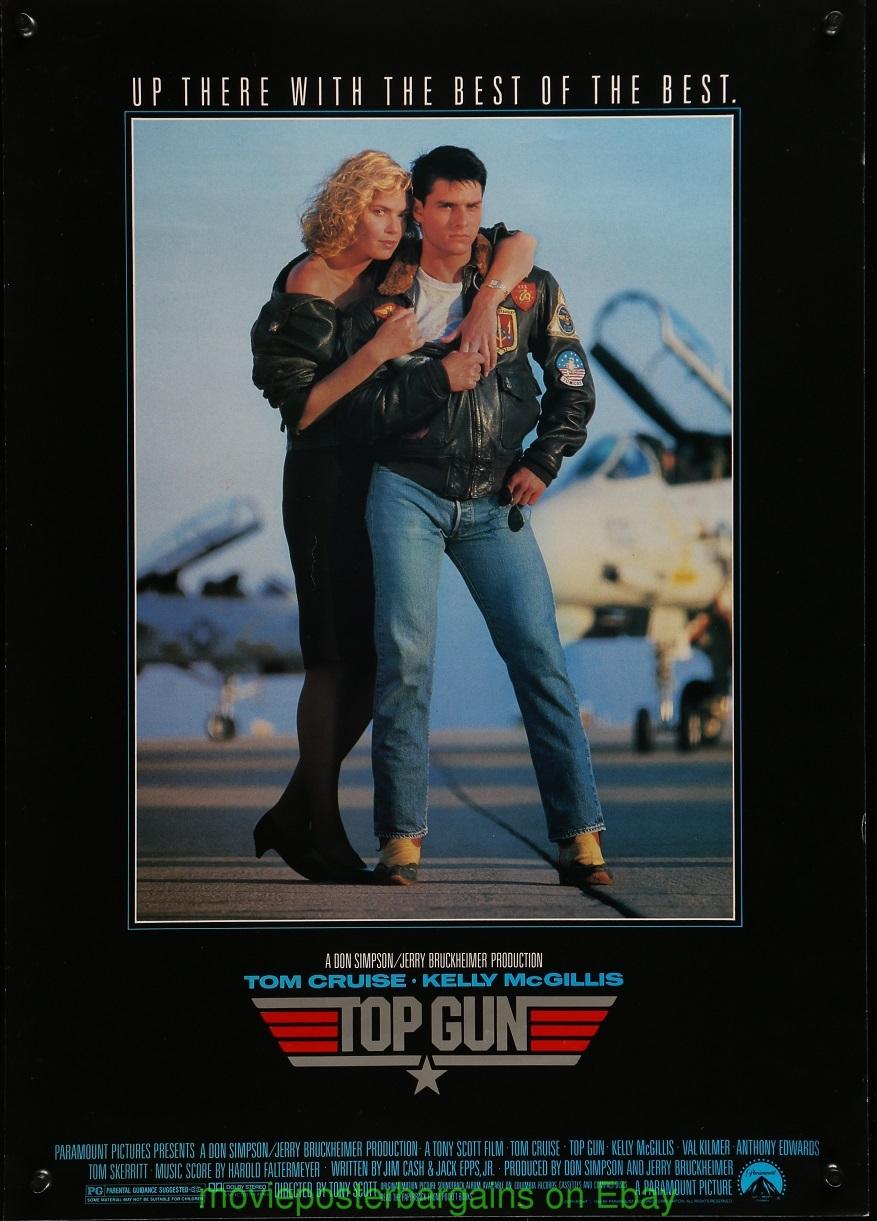 TOP GUN MOVIE POSTER 1986 TOM CRUISE 17x24 Original ...