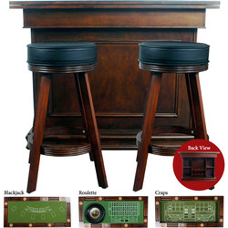 game table bar roulette craps blackjack 53 l stools new ebay. Black Bedroom Furniture Sets. Home Design Ideas