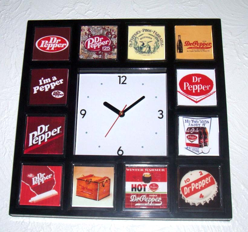 classy History of Dr Pepper Soda Pop Clock 12 pictures