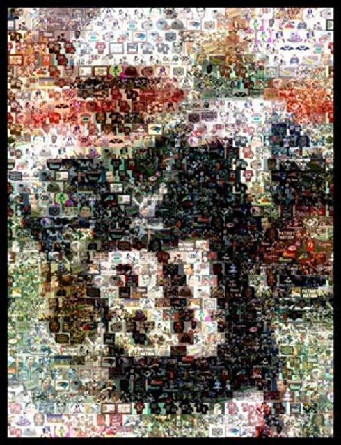 Amazing Randy Moss New England Patriots Montage w COA