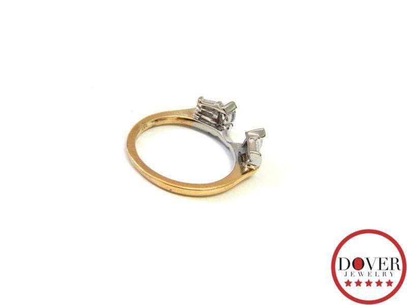 estate 14k gold insert engagement wedding band