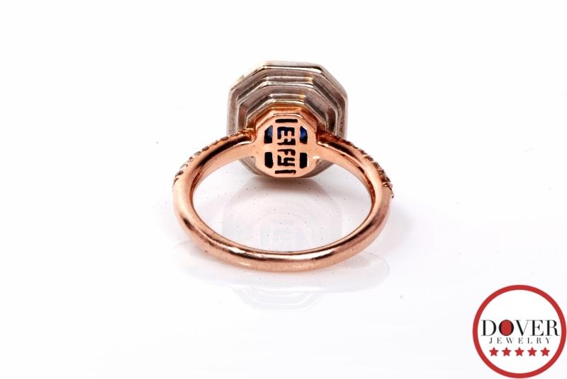 Designer Effy Diamond 1 75ct Sapphire 14k Rose Gold Ring