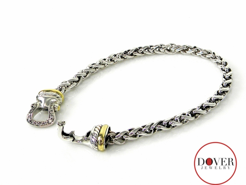 david yurman 18k gold sterling silver bracelet nr