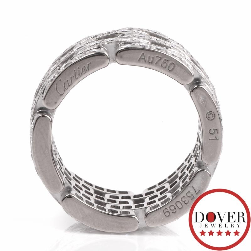 Cartier Infinity Bracelet: Cartier Maillon Panthere Diamond 18K Gold Wide Eternity