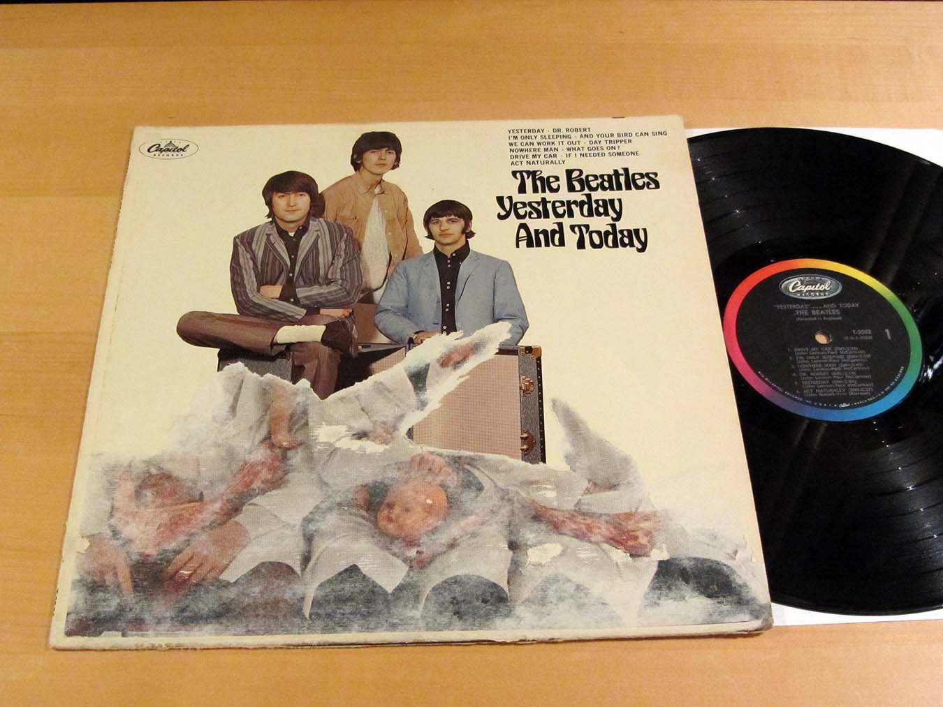 the beatles yesterday and today butcher cover partially peeled capitol mono ebay. Black Bedroom Furniture Sets. Home Design Ideas