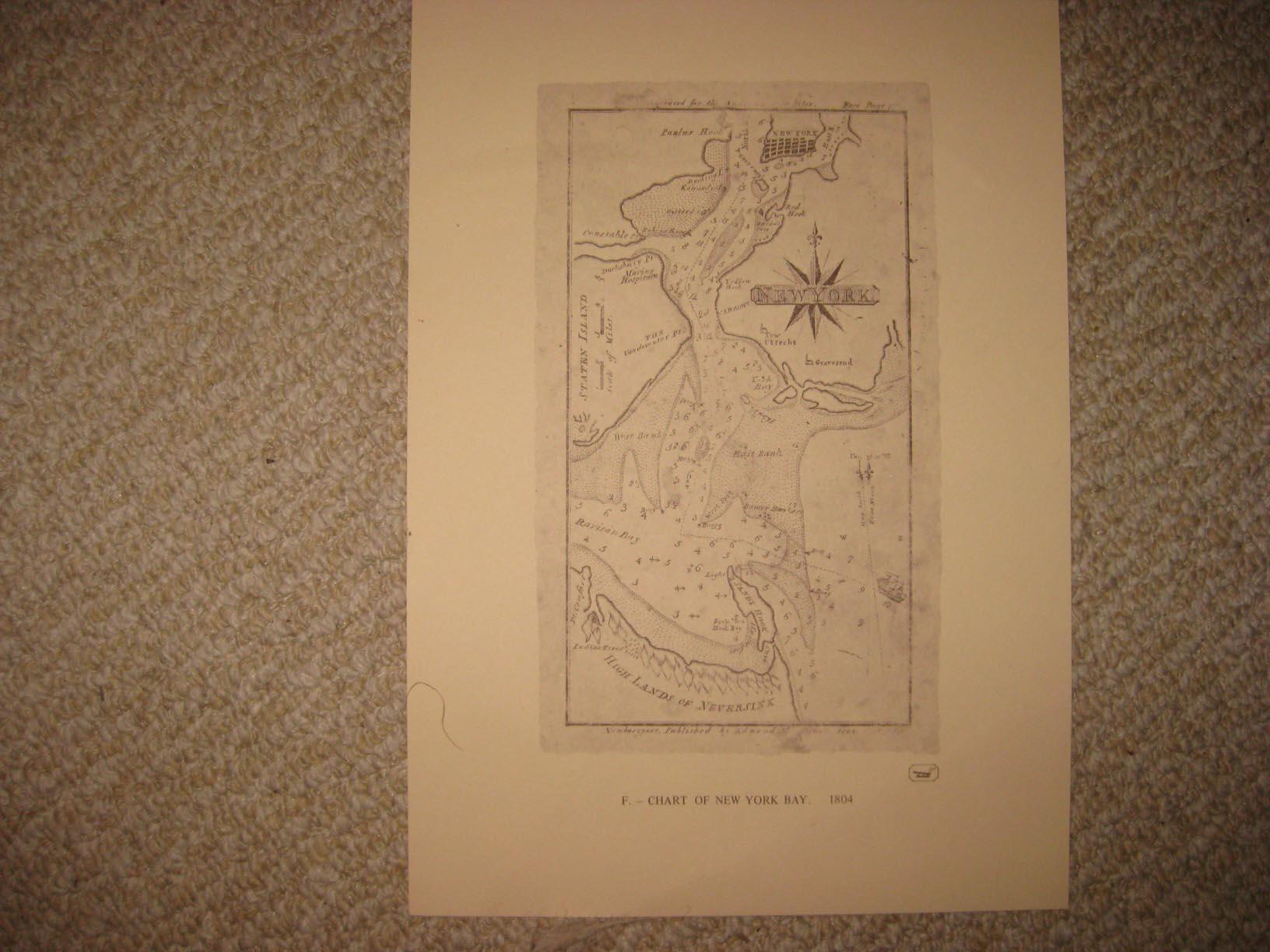 Manhattan Island 1639 Map New York Staten Island 20x30