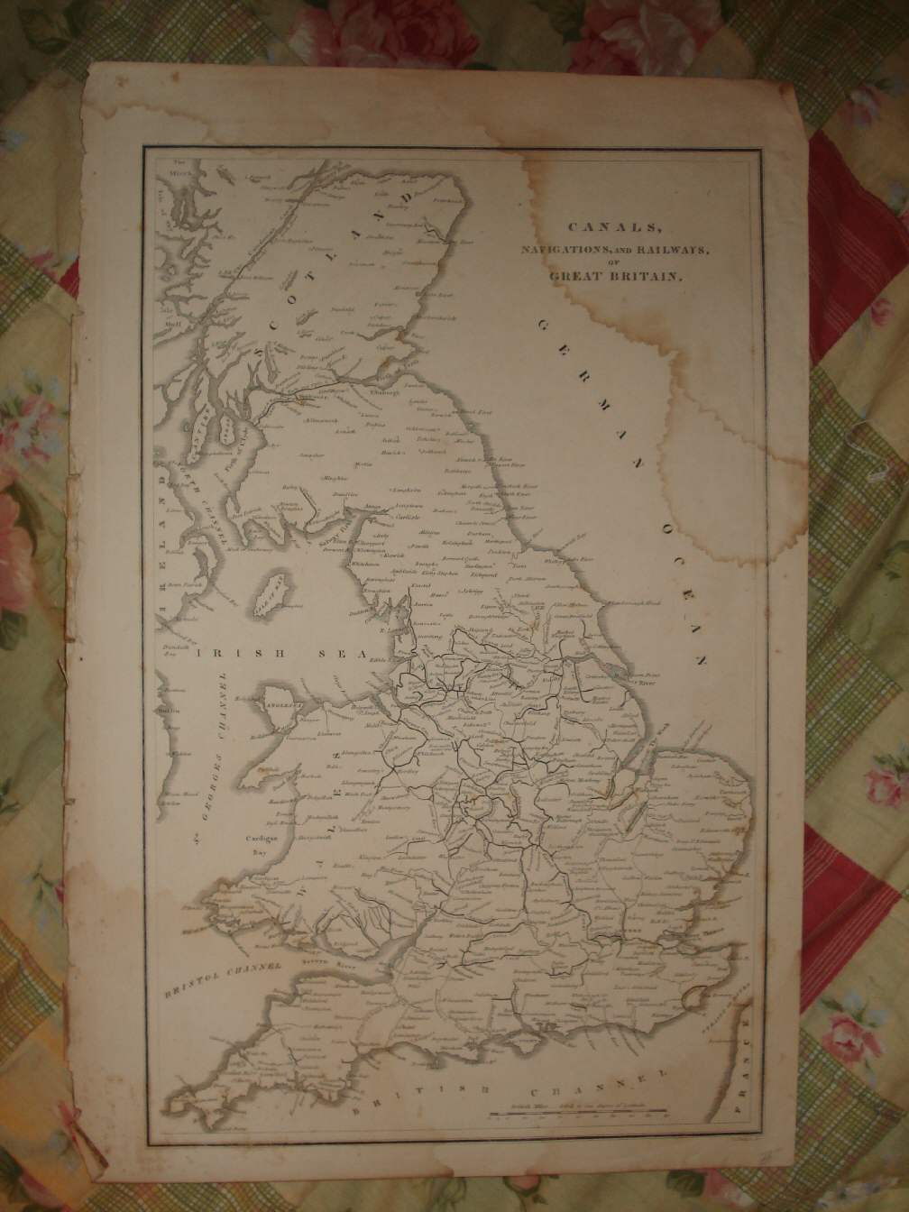 ANTIQUE MAP ENGLAND SCOTLAND CS RAILROAD RAILWAY NR | eBay on england river map, england train system map, england bus map, england steam trains, england train routes, england railway, west country england map, walk cotswold england map, england airport map, england county map 1800, lake country england map, england road map, england ocean map, england map with latitude and longitude, england districts map, stonehenge england map, train in england map, england agriculture map, derbyshire england map, england rail system,