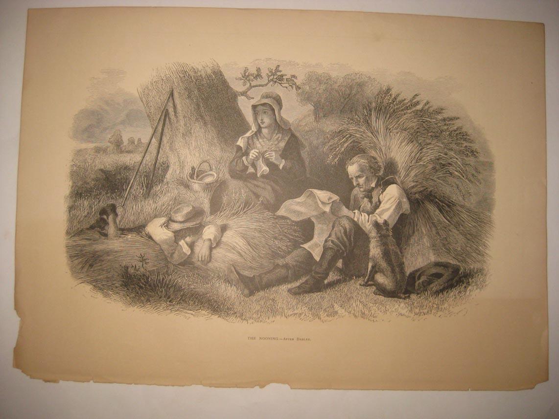 Folk Art Yew Tree Farm Print