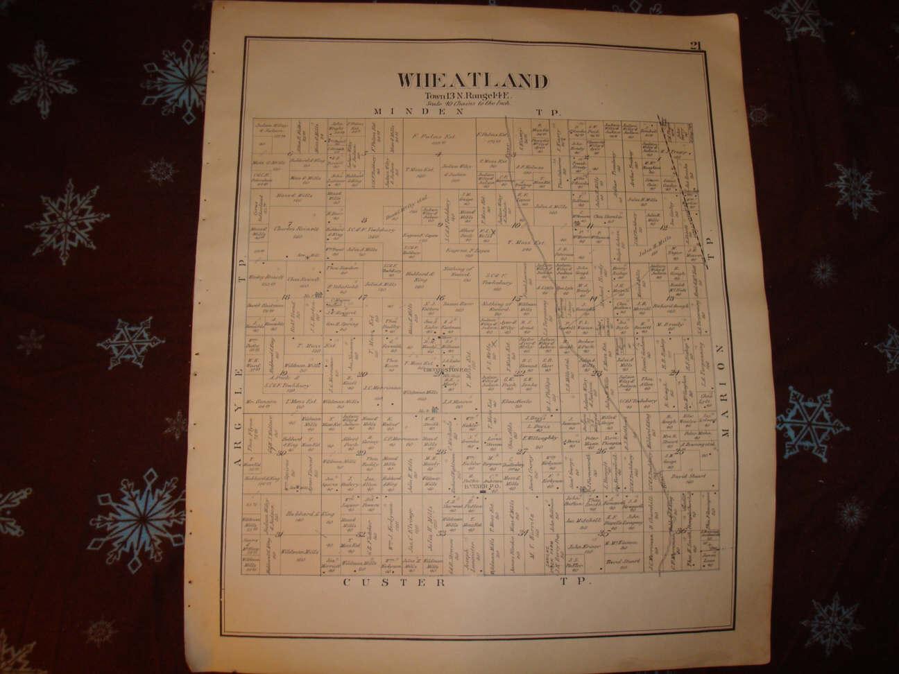 WHEATLAND TOWNSHIP SANILAC COUNTY MICHIGAN ANTIQUE MAP | eBay on erie county plat map, jackson county plat map, fulton county plat map, huron county plat map, okfuskee county plat map, saginaw county plat map, yellow medicine county plat map, kalkaska county plat map, lenawee county plat map, grant county plat map, cambria county plat map, somerset county plat map, union county plat map, gaines county plat map, lake county plat map, grand traverse county plat map, camden county plat map, ida county plat map, st clair county plat map, clayton county plat map,