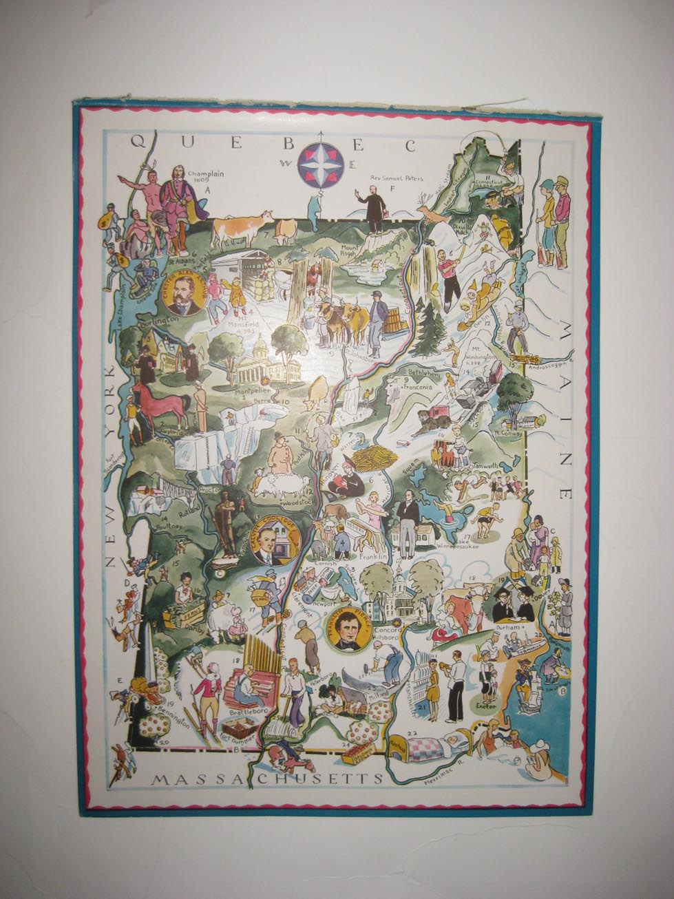 New York Published by Washington Square Bookshop 1925 pictorial map POSTER 11749