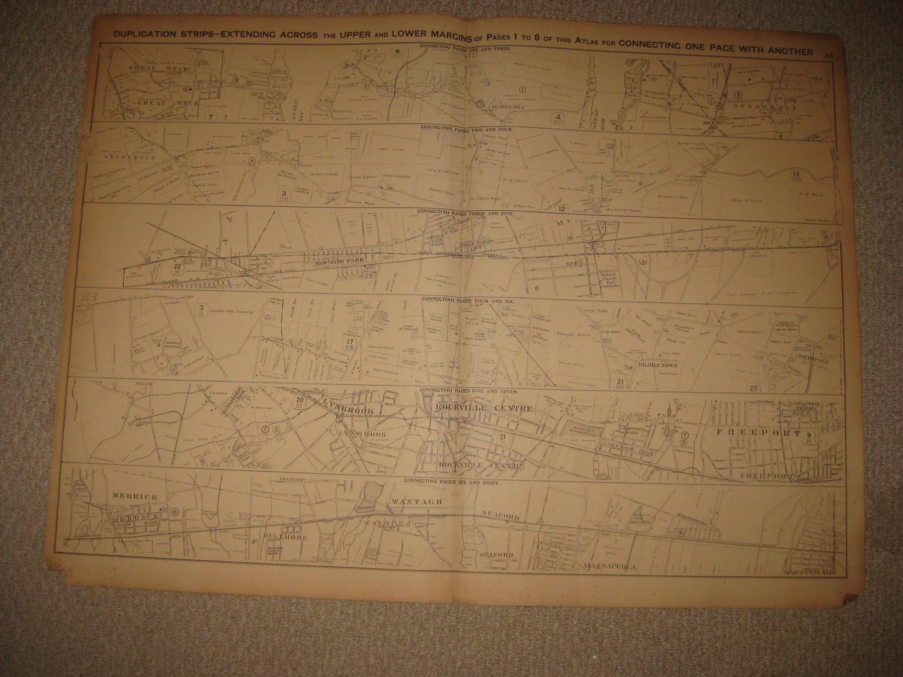 1804 NY MAP Seaford St James Stony Brook Point Suffern South Kortright HISTORY