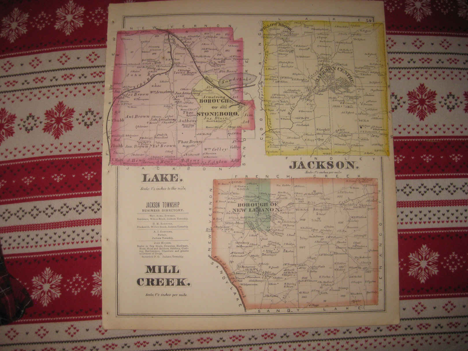 Mercer (PA) United States  city pictures gallery : ... Lake Jackson Mill Creek Township Mercer County Pennsylvania Map | eBay
