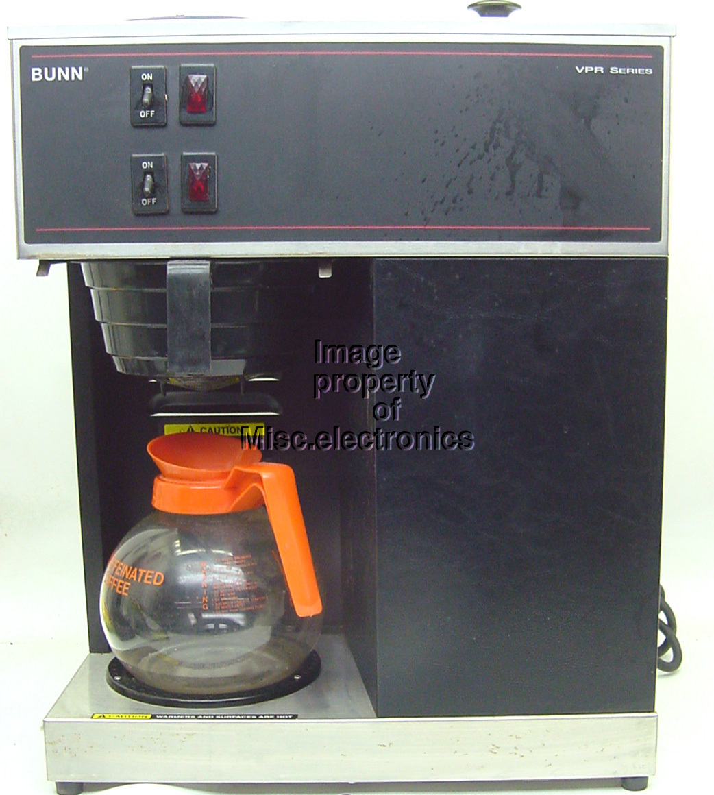 BUNN Stainless Black Commercial VPR Series Pour Over Coffee Maker 2 Warmers eBay