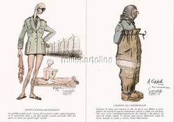 * CONCENTRATION CAMP 8 Postcards+Box Caricatures Wietzendorf 1944 A.Coppola