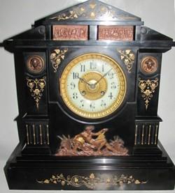 1880 Japy Freres Bailey Banks Biddle Greek Revival Mantel Clock On Popscreen