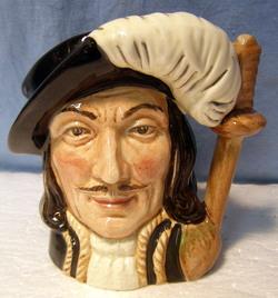 Doulton * Character Jug Mug Toby * ATHOS * PERFECT * Small **
