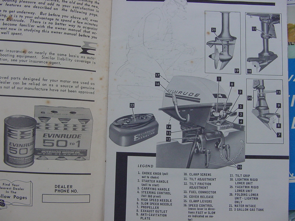 1969 4 hp evinrude owner manual packet  4906 4902 4936