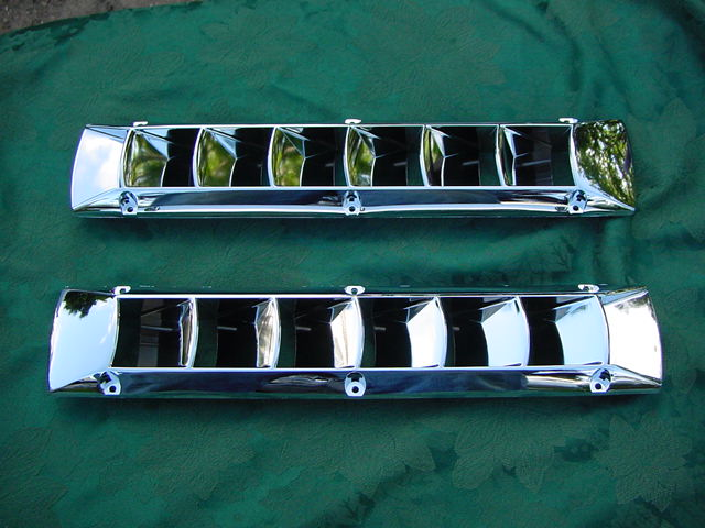 CHROME BOAT VENT LOUVER  CARLSON BAYLINER FOUR WINNS NEW two for $69.95 Save!