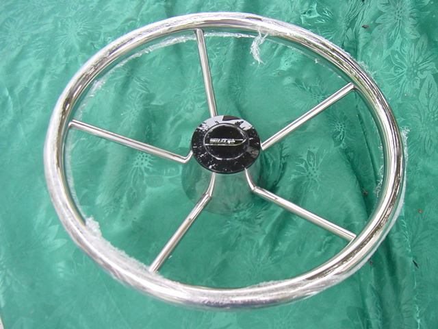 Boston Whaler Emblem Stainless Steering Wheel 13 1 2