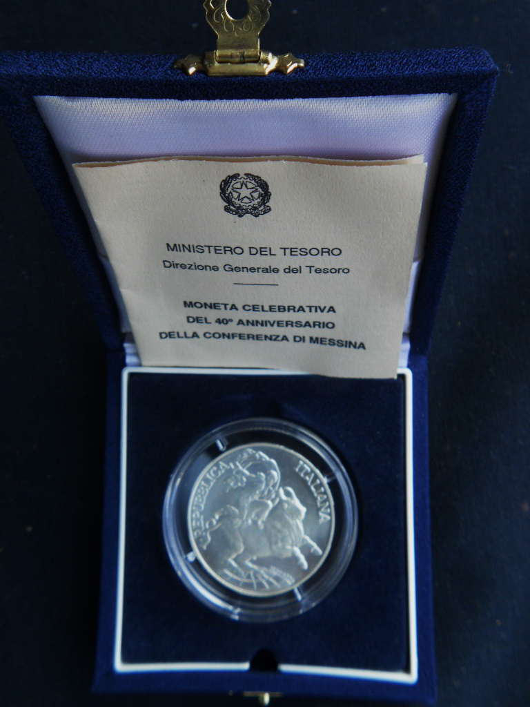 UNC SILVER Coin ITALY 500 LIRE 1982 KM# 98 CHRISTOPHER COLUMBUS/'s SHIPS
