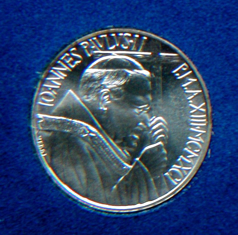rare silver coin 500 Lire Dottrina Sociale in official box Italy 1991 Vatican