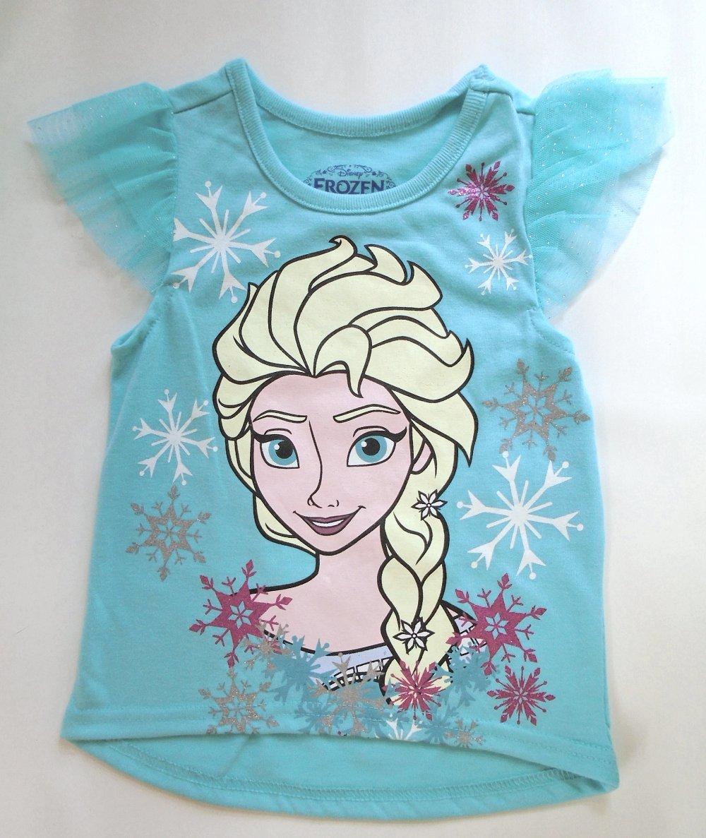 Disney Frozen Girls Short Sleeve T Shirt   NWT  Aqua   Size 2T