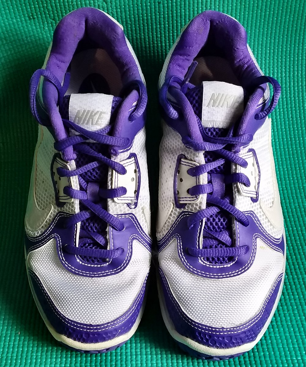 Details about NIKE AIR MAX MIRABELLA 3 TENNIS SHOES ORTHOLITE WHITE PURPLE WOMENS SIZE 6