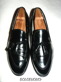 9a51b6da37b BROOKS BROTHERS ALDEN NEW ENGLAND 10.5 D BLACK SHELL CORDOVAN LOAFERS