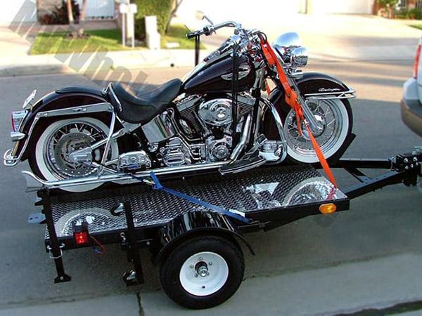 Fold Up Harley Davison Bike Hauler Motorcycle Trailer