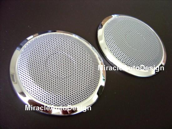 Two Pcs Stainless Steel Speaker Cover Net Set For Bmw E36