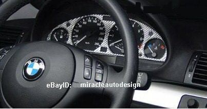 Carbon Fiber Gauge Dash Trim Silver Or Black For 1999