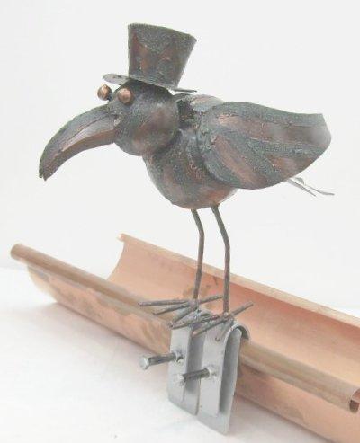 m we aus metall dachschmuck f r die dachrinne 28 cm metallfigur ebay. Black Bedroom Furniture Sets. Home Design Ideas