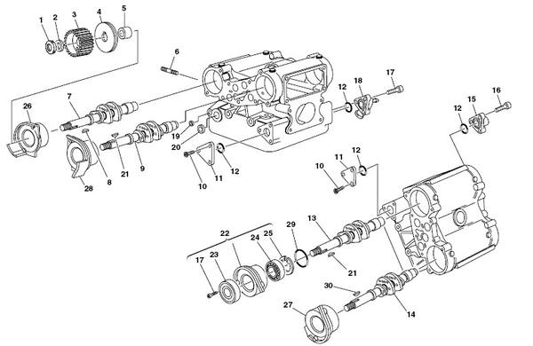 Ducati Cam Shaft Carrier Assembly