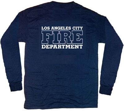 Los angeles city fire dept t shirt m long sleeves ebay for Fire department tee shirt designs
