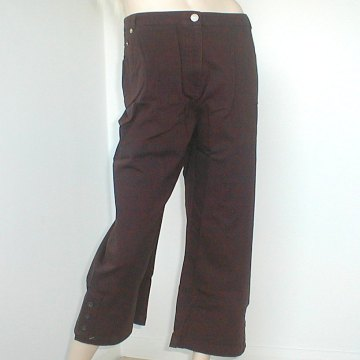 Chocolate-Brown-Three-Quarter-Length-Trousers-Size-20