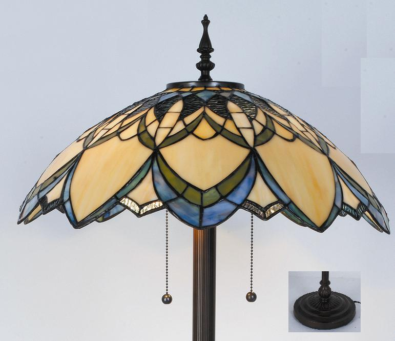 details about tiffany style stained glass floor lamp golden daze. Black Bedroom Furniture Sets. Home Design Ideas