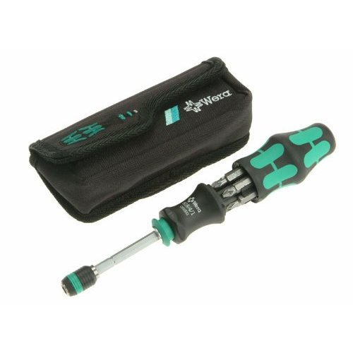 wera kraftform kompakt 20 screwdriver with rapidaptor bit holder bits 051021 ebay. Black Bedroom Furniture Sets. Home Design Ideas