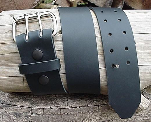mens black heavy duty leather belt 2 quot wide size 30 through
