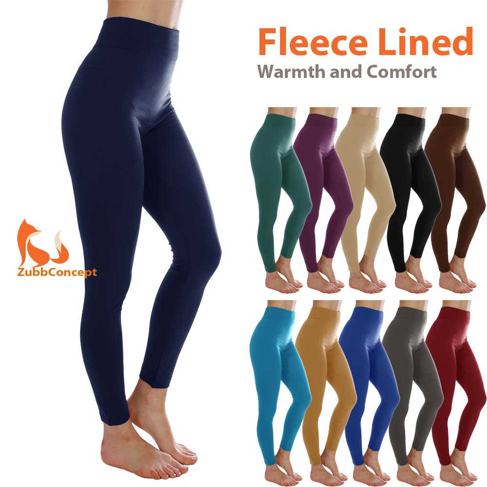 Women/'s Fleece Lined Solid Colors Winter Thick Warm Thermal Stretchy Leggings