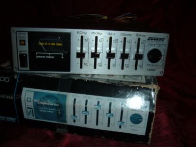 huffsantiques vintage avx  audiovox amp  graphic equalizer amplifier  car  school