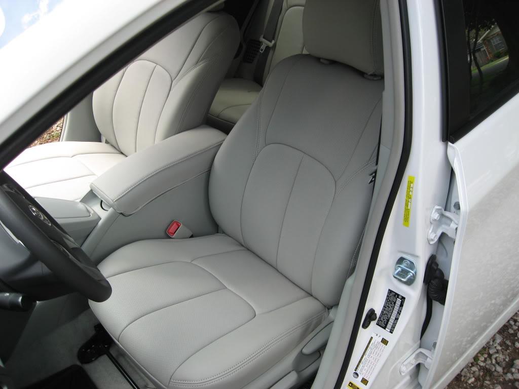 Clazzio Covers 2010 2011 2012 Toyota Prius Hybrid Clazzio Leather Seat Covers Misty Gray Bisque
