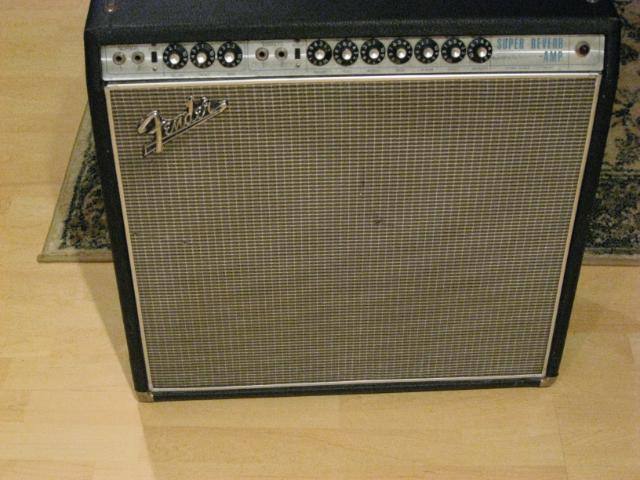 Fender Super Reverb BLACKFACE Silverface 1968 68 AB763