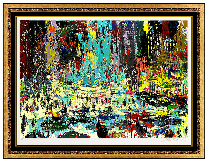 THE PLAZA SQUARE LeROY NEIMAN Post Card