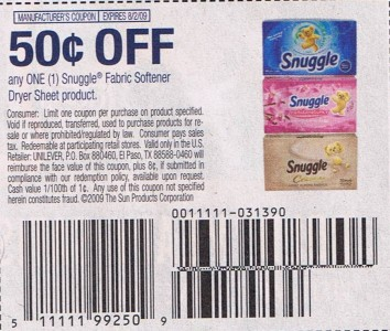 Dryer coupons