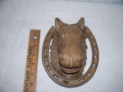 Tamit1 cast iron horse head door knocker western decor - Horse head door knocker ...